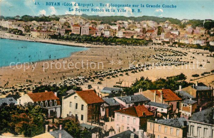 Royan_Charente Maritime Vue plongeante sur la Grande Conche Royan Charente Maritime
