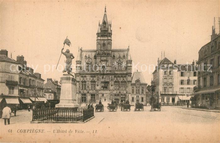 Compiegne_Oise Hotel de Ville Monument Compiegne Oise