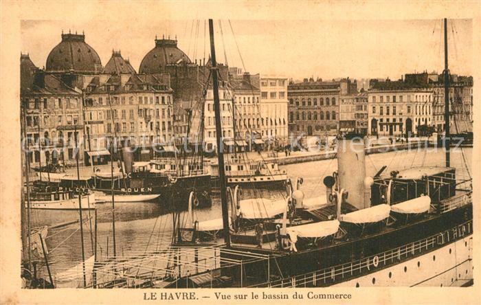 Le_Havre Vue sur le bassin du Commerce Bateaux Le_Havre