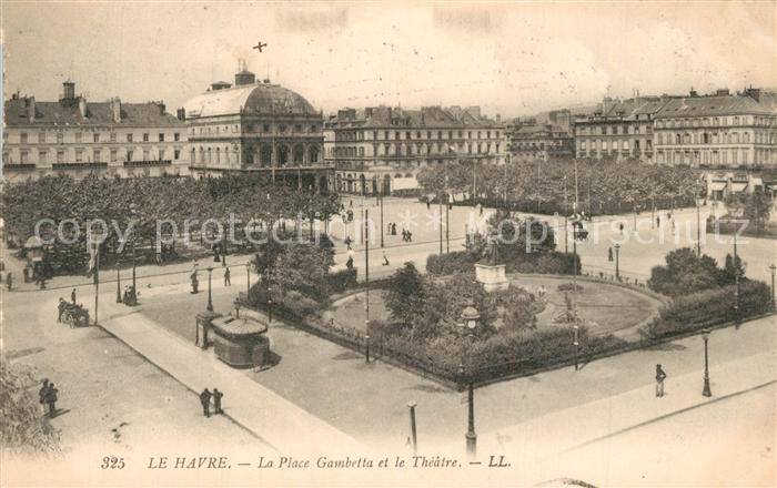 Le_Havre Place Gambetta et le Theatre Le_Havre