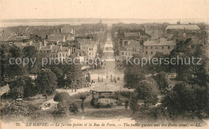 Le_Havre Jardin public Rue de Paris Le_Havre