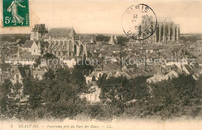 Beauvais Panorama pris du Parc des Eaux Beauvais