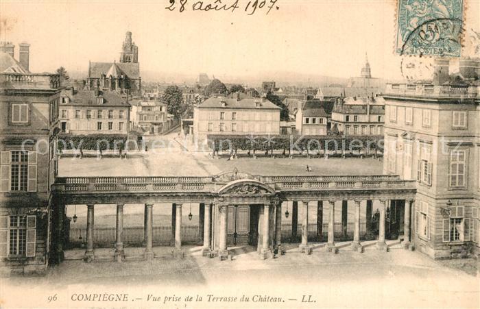 Compiegne_Oise Vue prise de la Terrasse du Chateau Compiegne Oise