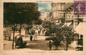 Angers Boulevard du Marechal Foch Marche aux Fleurs Angers