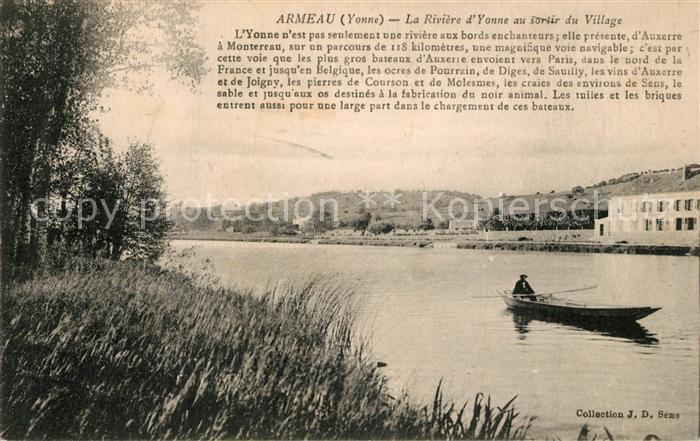 Armeau La Riviere d Yonne au sortir du Village Armeau