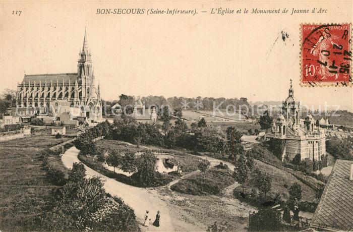 Bonsecours_France Eglise et Monument de Jeanne d Arc Bonsecours France