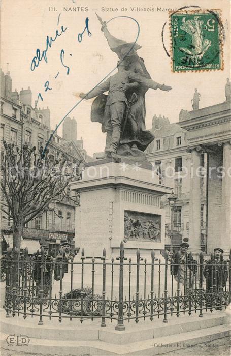 Nantes_Loire_Atlantique Statue de Villebois Mareuil Nantes_Loire_Atlantique