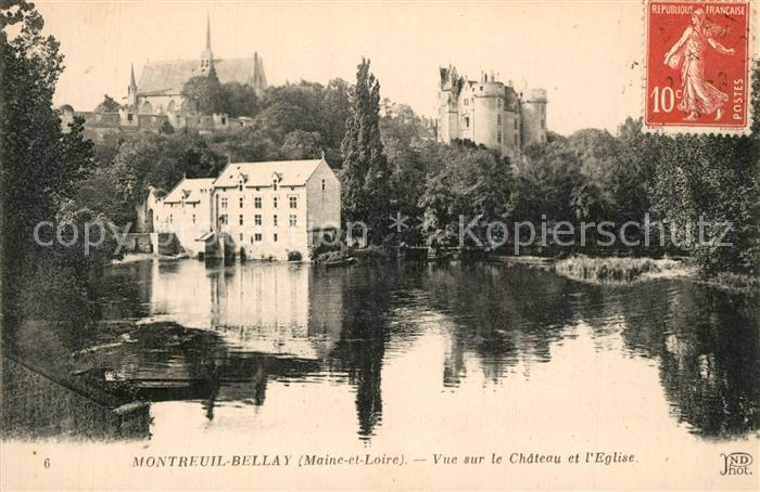 Montreuil Bellay Chateau Eglise Montreuil Bellay