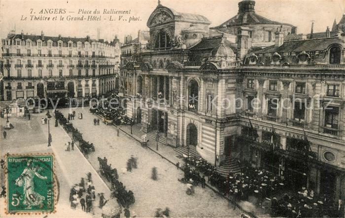 Angers Place du Ralliement Theatre et Grand Hotel Angers