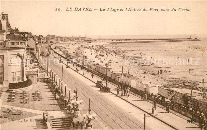 Le_Havre La Plage et l Entree du Port vues du Casino Le_Havre