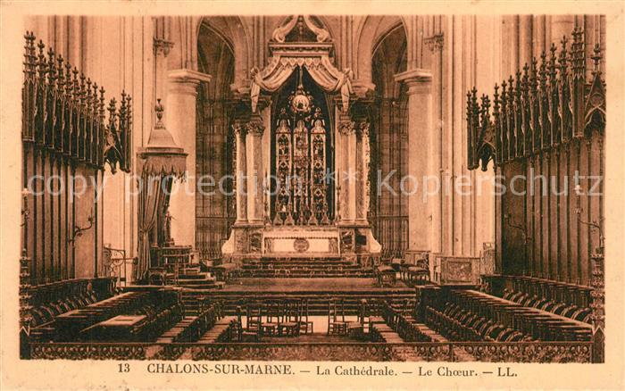 Chalons sur Marne_Ardenne Cathedrale le choeur Chalons sur Marne Ardenne