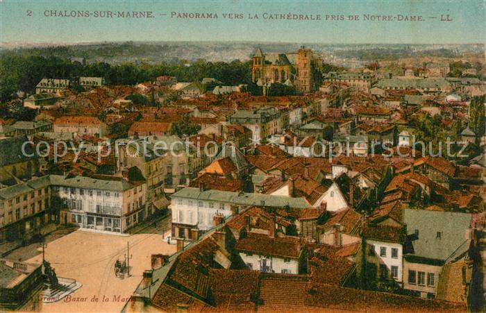 Chalons sur Marne_Ardenne Panorama vers la Cathedrale pris de Notre Dame Chalons sur Marne Ardenne