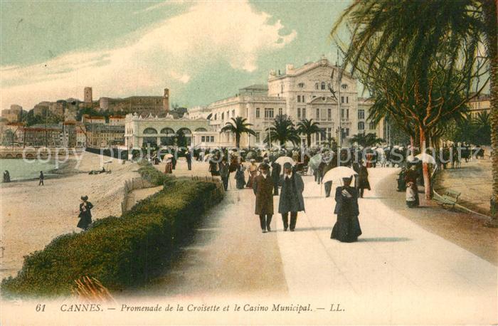 Cannes_Alpes Maritimes Promenade de la Croisette et le Casino Municipal Cannes Alpes Maritimes