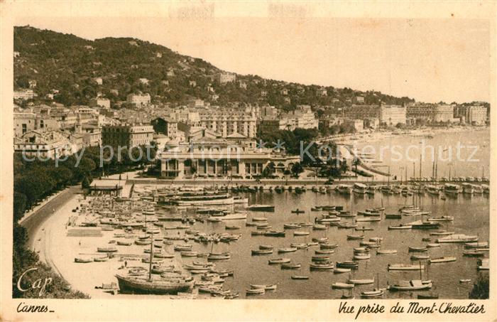 Cannes_Alpes Maritimes Le port vue prise du Mont Chevalier Cote d Azur Cannes Alpes Maritimes