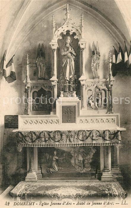 Domremy la Pucelle_Vosges Eglise Jeanne d Arc Autel de Jeanne d Arc Domremy la Pucelle_Vosges