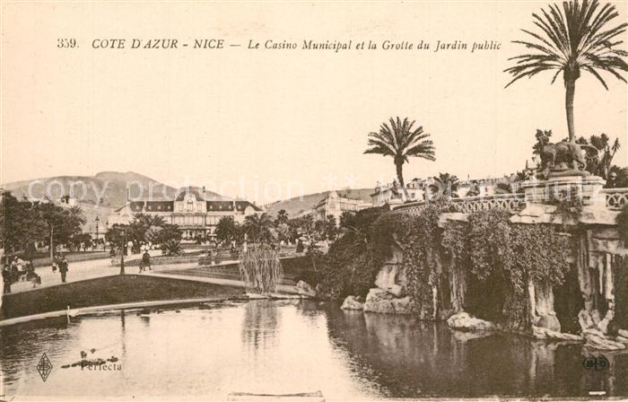 Nice_Alpes_Maritimes Casino Municpal et la Grotte du Jardin public Nice_Alpes_Maritimes