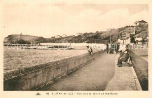 Saint Jean de Luz Vue vers la pointe de Sainte Barbe Saint Jean de Luz