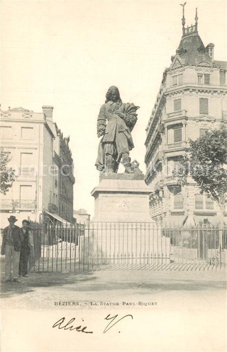 Beziers Statue Paul Riquet Monument Beziers