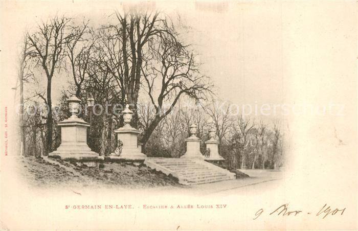 Saint Germain en Laye Escalier Allee Louis XIV Saint Germain en Laye