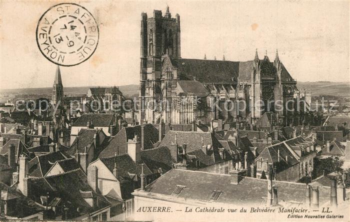 Auxerre La Cathedrale vue du Belvedere Manifacier Auxerre