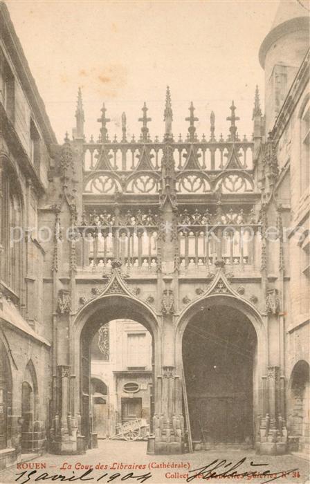Rouen La Cour des Libraires Rouen