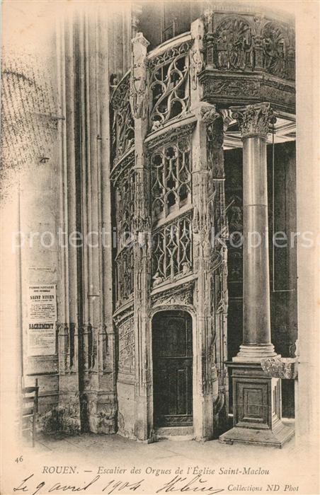 Rouen Escalier des Orgues Eglise Saint Maclou Rouen