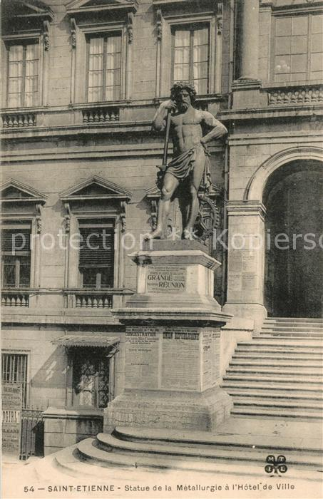 Saint Etienne_Loire Statue de la Metallurgie Hotel de Ville Saint Etienne Loire