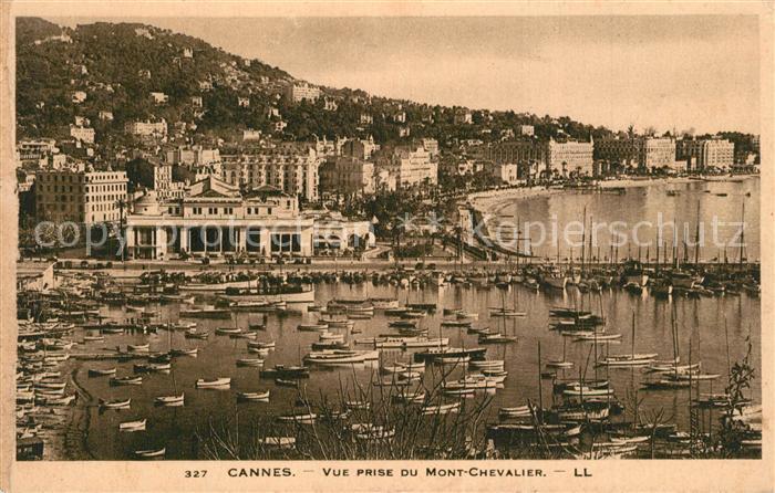 Cannes_Alpes Maritimes Vue prise du Mont Chevalier Cannes Alpes Maritimes