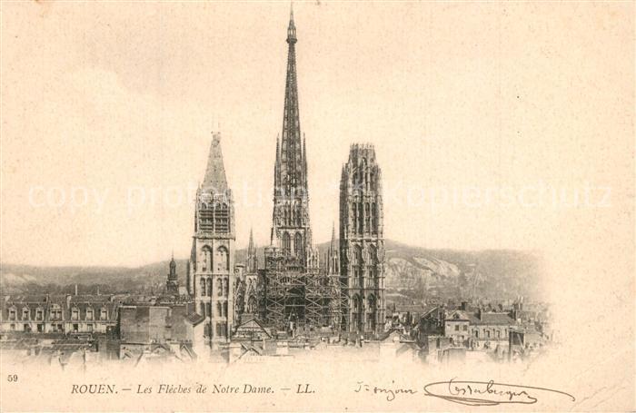 Rouen Les Fleches de Notre Dame Rouen