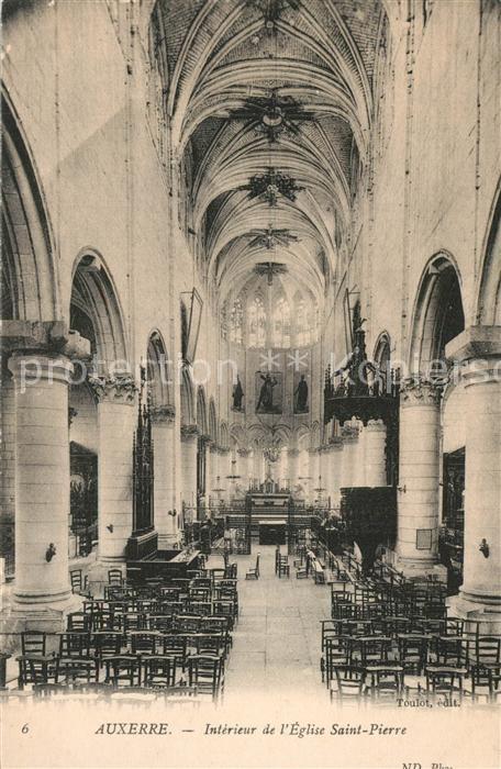 Auxerre Interieur de l Eglise Saint Pierre Auxerre