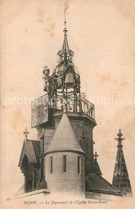 Dijon_Cote_d_Or Le Jaquemart de l Eglise Notre Dame Dijon_Cote_d_Or