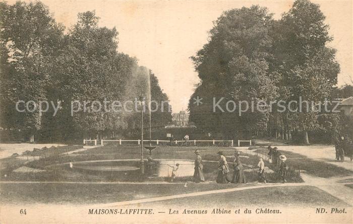 Maisons Laffitte Les Avenues Albine et du Chateau Maisons Laffitte