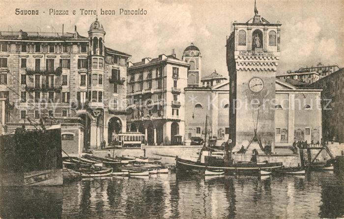 Savona_Liguria Piazza e Torre Leon Pancaldo Savona Liguria