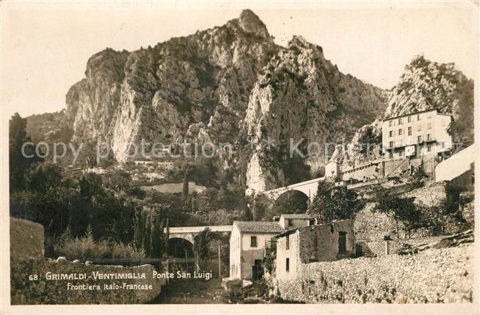 Grimaldi_di_Ventimiglia Ponte San Luigi Frontiera Italo Francese  Grimaldi_di_Ventimiglia