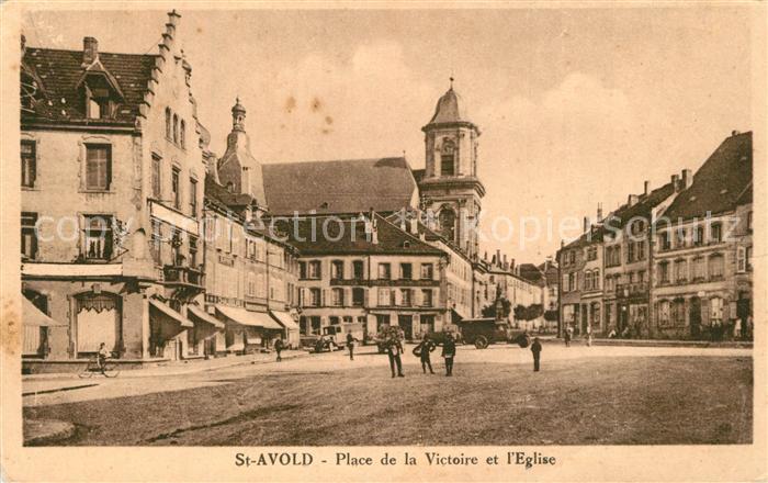 Saint Avold Place de la Victoire et l Eglise Saint Avold