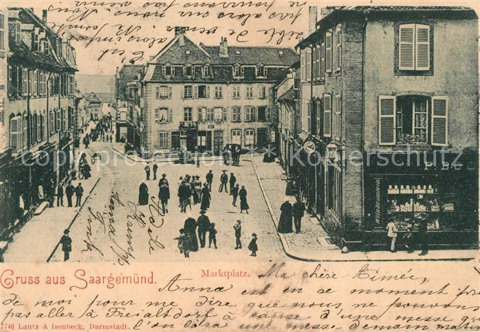 Saargemuend Marktplatz Saargemuend