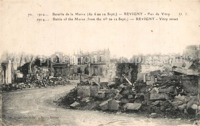 Revigny sur Ornain Bataille de la Marne du 6 au 12 Sept Rue de Vitry Revigny sur Ornain