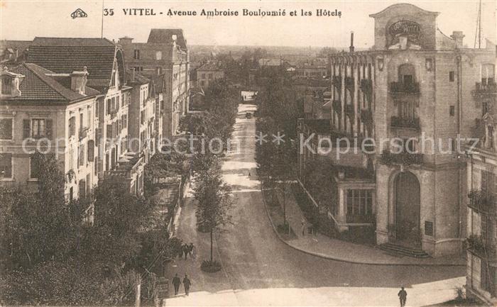 Vittel Avenue Ambroise Bouloumie et les Hotels Vittel