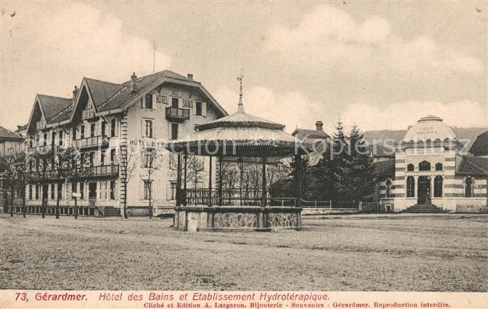 Gerardmer_Vosges Hotel des Bains et Etablissement Hydroterapique Gerardmer Vosges