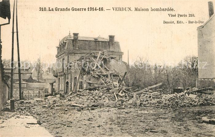 Verdun_Meuse La Guerre 1914 16 Maison apres le bombardement Verdun Meuse