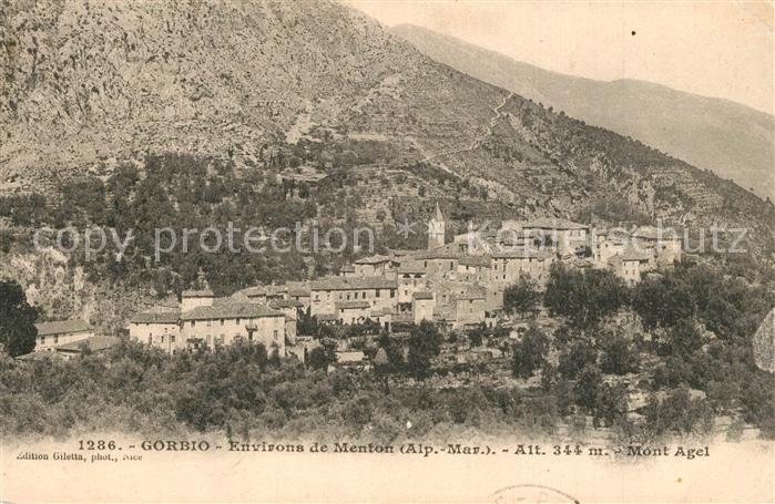 Gorbio Environs de Menton Mont Agel Gorbio