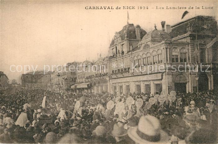 Nice_Alpes_Maritimes Carnaval de Nice 1924 Les Lanciers de la Lune Nice_Alpes_Maritimes