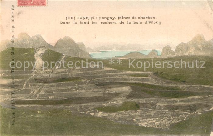 Tonkin Hongay Mines de charbon Tonkin