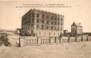 Sainte Cecile_Saone et Loire Le Grand Hotel La Rue d'Armentieres et le Boulevard de la Manche Sainte Cecile