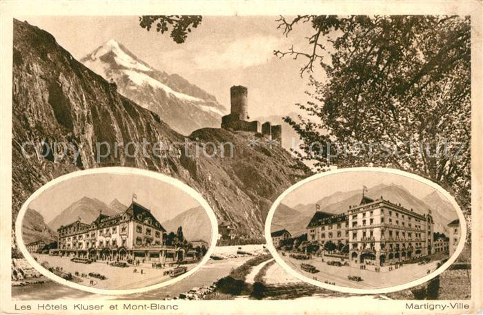 Martigny_Ville Hotels Kluser et Mont Blanc Martigny_Ville