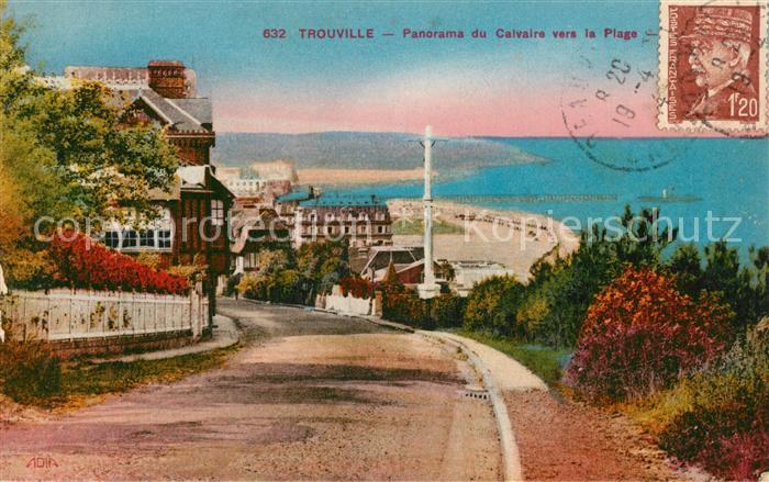 Trouville sur Mer Panorama du Calvaire vers la Plage Trouville sur Mer
