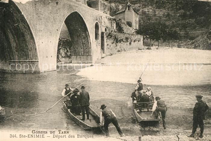 Sainte Enimie Depart des Barques Gorges du Tarn Pont Sainte Enimie