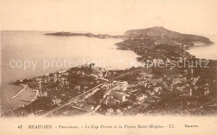 Beaulieu sur Mer Cap Ferrat et Pointe Saint Hospice vue aerienne Beaulieu sur Mer