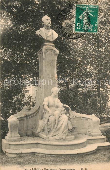 Lille_Nord Monument Desrousseaux Statue Lille_Nord
