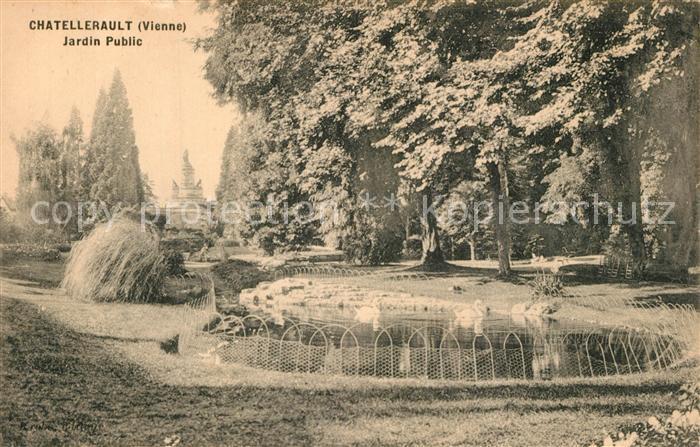 Chatellerault Jardin Public Park Schwanenteich Chatellerault